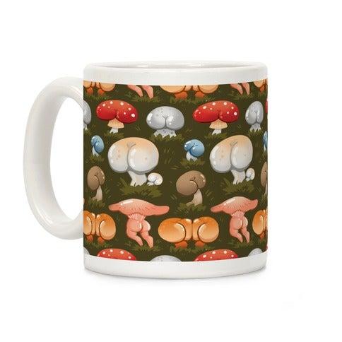 Look Human Butt Mushroom Coffee Cup