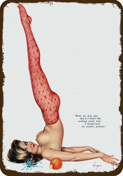 1966_Vargas girl red nylons yoga