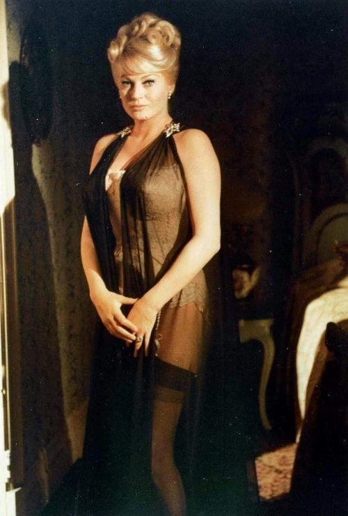 Anita Ekberg lingerie black sheer