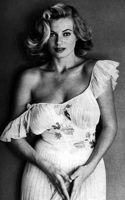 Anita Ekberg lingerie dress sheer