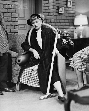 Lucille Ball with Vacuum Cleaner in I Love Lucy
