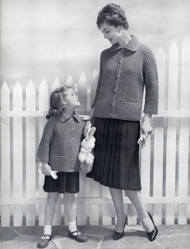 Mother Daughter Matching 1950