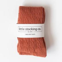Rust colored cable tights