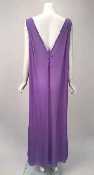 1960s Claire Sandra by Lucie Ann Beverly Hills Purple Peignoir 5