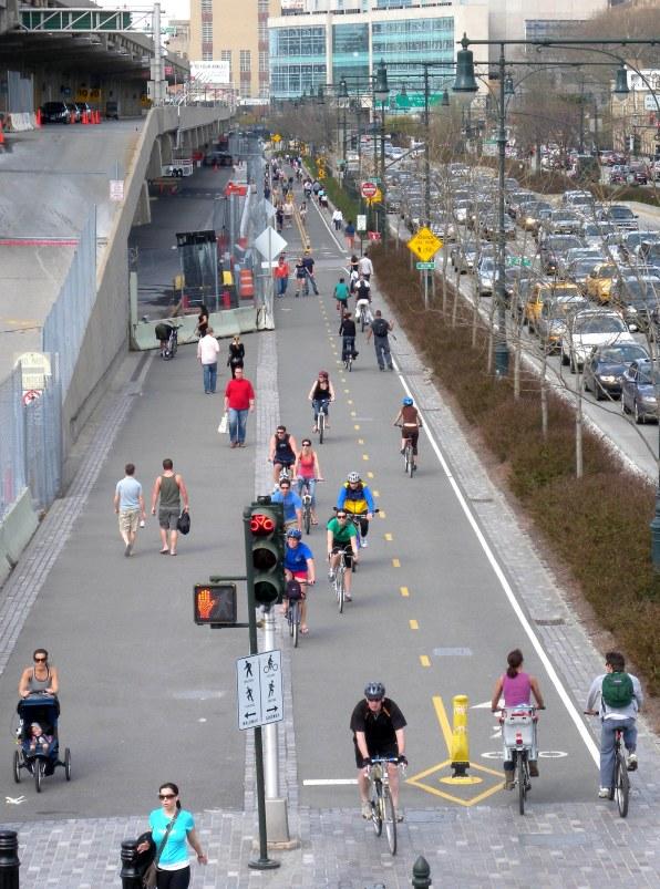 Hudson River Greenway bike path by 44th street