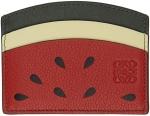 loewe-red-and-green-paulas-ibiza-watermelon-plain-card-holder