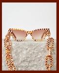 Machete Jewelry Cat Eye Sunglasses andchain