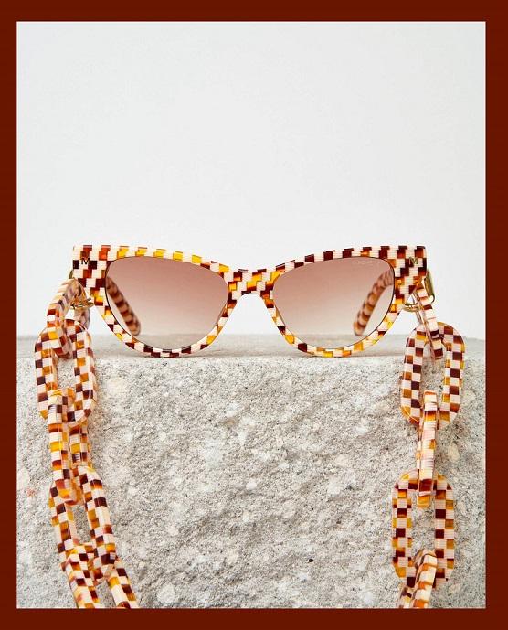 Machete Jewelry Cat Eye Sunglasses and chain