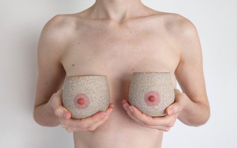 PlayfulCeramics cup a boob $55 Etsy