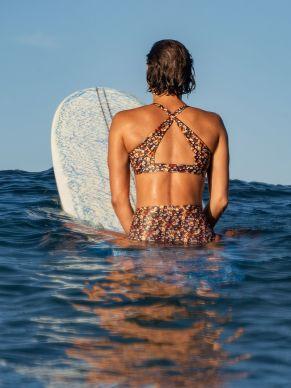 Title Nine Chameleon Bikini Top back - Paprika Floral