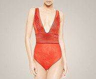 tulle nervures body red