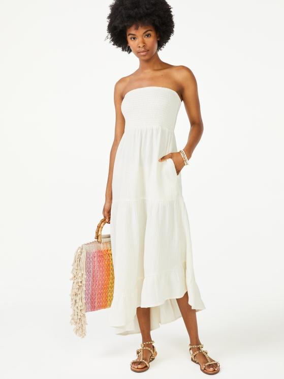 Walmart Scoop 100% Cotton Summer Dress Black $28.50