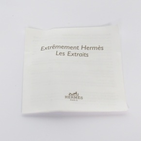 Herme's Refillabel Fragrance Bottle booklet