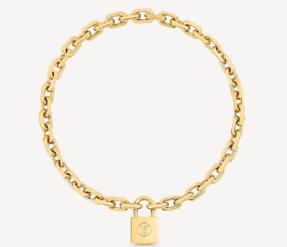 Louis Vuitton Edge Padlock Necklace