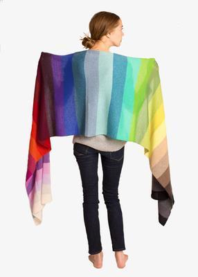 Golightly Cashmere Rainbow Oversized Scarf $405 model