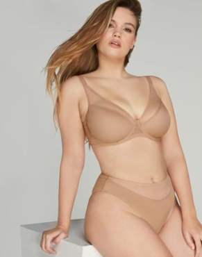 Lucky Full Cup Underwired Bra in Noisette _ By Agent Provocateur New In