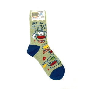 Blue Q 'Get the Hell Out of My Kitchen' socks $5