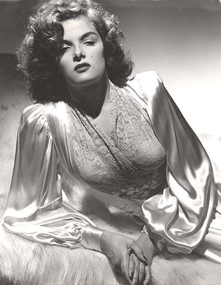 Jane Russell White Satin Robe