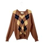 Pringle Brown Tan Vintage Argyle Sweater$30
