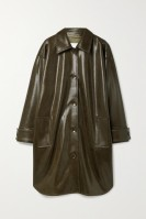 Stand Studio Kala Overcoat faux leather green $87.55 on sale