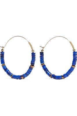 Zimmermann 14K Aloha beaded hoop earrings