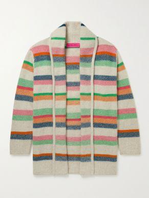 Elderstatesman Striped Sweater Women's white