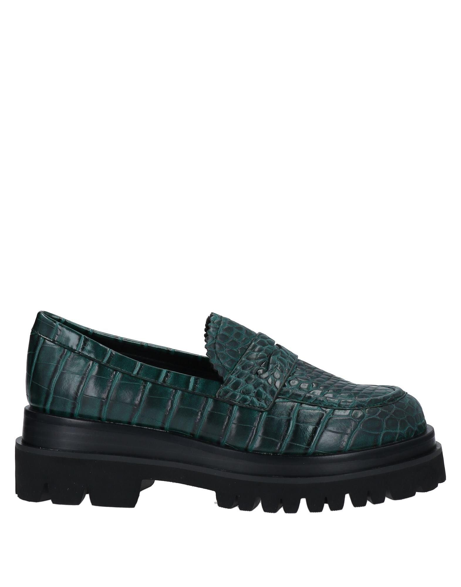 EMANUÉLLE VEE deep jade loafer