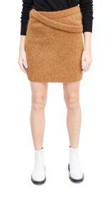 Helmut Lang Double Waistband Alpaca blend Skirt