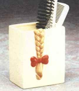 Lip Service hair brush holder
